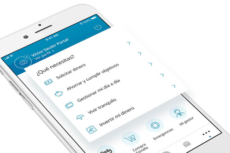App Caixabank con navegación Priority+
