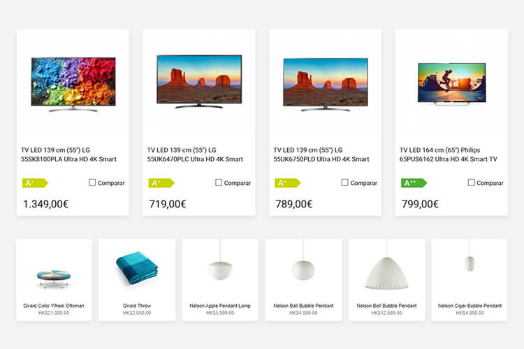 Productos de Puntronic y Herman Miller