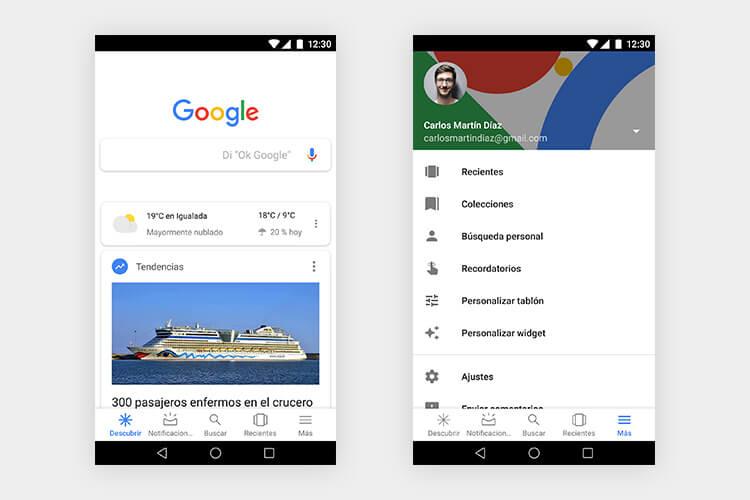 Capturas del buscador Google con navegación Priority+