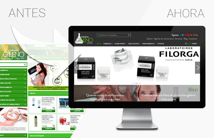 diseño de farmacias online - Trilogi