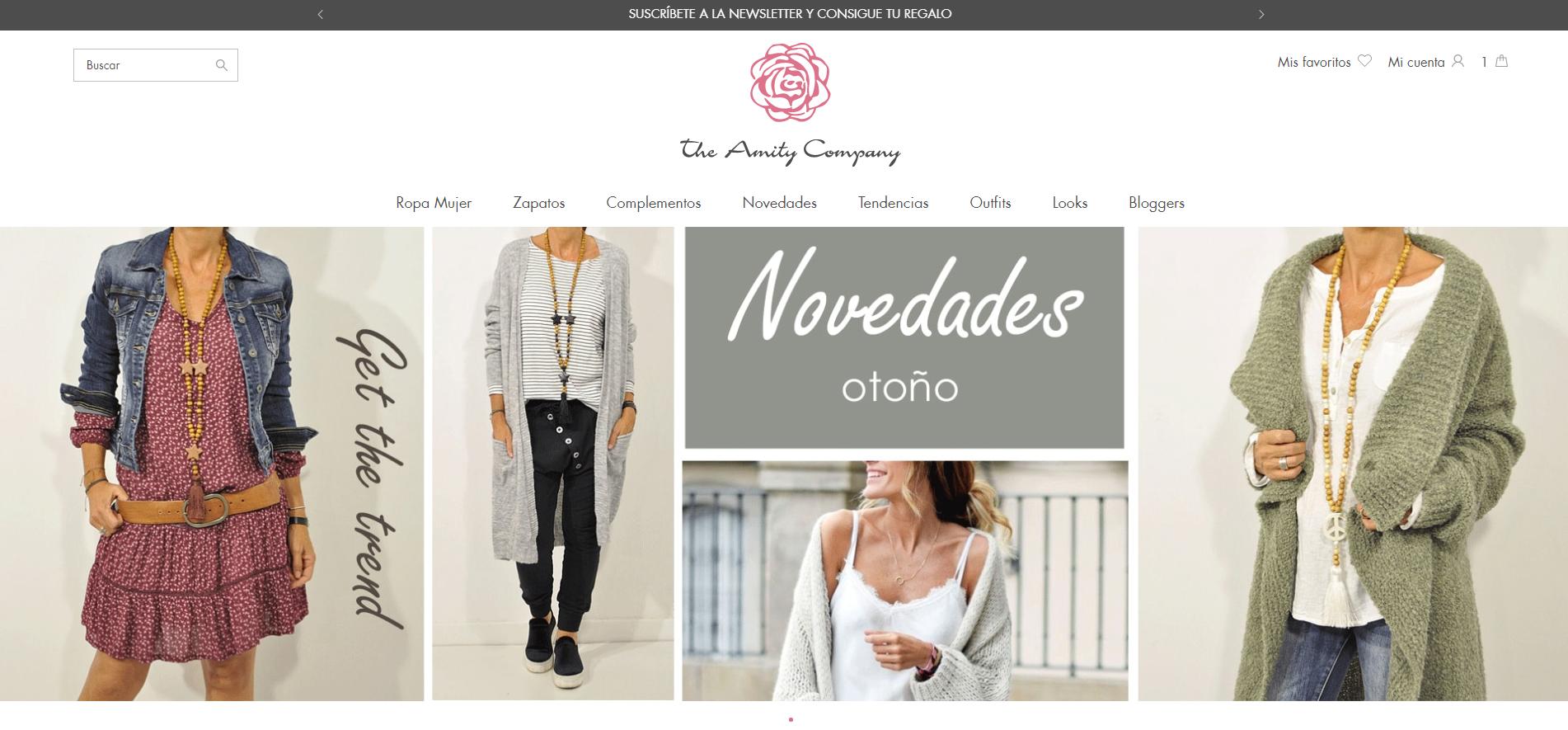 ac948178e6676 The Amity Company renueva su eShop de ropa para mujer - Blog TLG ...