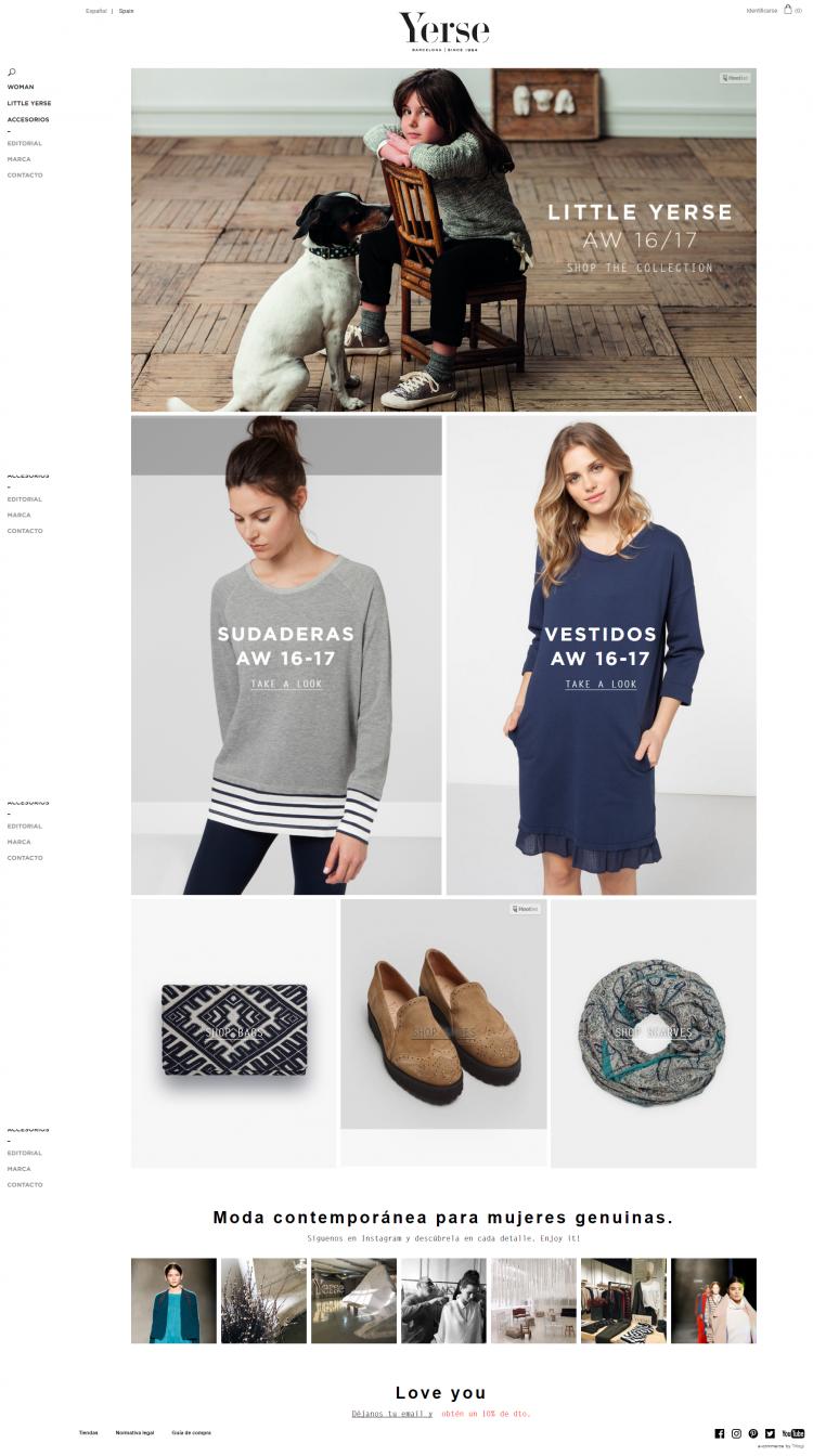 Trilogi (TLG Commerce) desarrolla la tienda online de Yerse